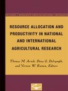 Cover Resource Allocation and Productivity in National and International Agricultural Research