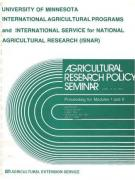 Cover Ag Research Policy Seminar