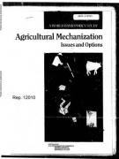 Cover Agricultural Mechanization