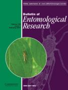 Cover Bulletin of Entomological Research