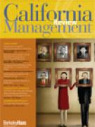 Cover California Management Review