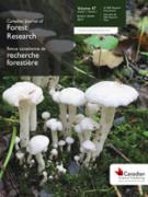 Cover Canadian Journal of Forest Research