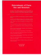 Cover Determinants of Farm Size and Structure 1990