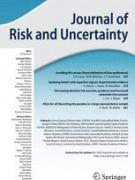 Cover Journal of Risk and Uncertainty