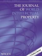 Cover Journal of World Intell Property