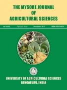 Cover Mysore Journal of Agricultural Sciences