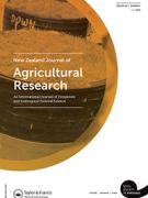 Cover New Zealand Journal of Agricultural Research