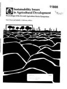 Cover Sustainability Issues in Agricultural Development