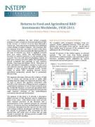 Returns to Food and Agricultural R&D Investments Worldwide, 1958-2011