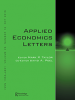 Cover Applied Economics Letters