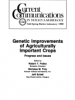 Cover Genetic Improvements of Agriculturall Important Crops
